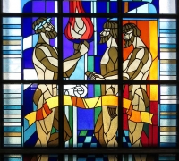 Stained-glass windows at Chernobyl NPP Main Administrative Building